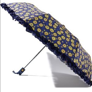 Shoshanna Umbrella Blue With Yellow Flowers NWT